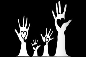 Grafik Hände mit Herz