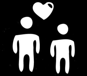 Grafik Menschen mit Herz