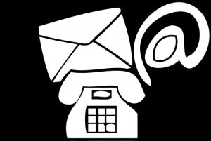 Grafik mit Telefon und Brief